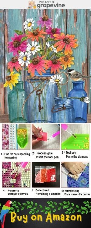 Flower Diamond Painting Kits for Adults